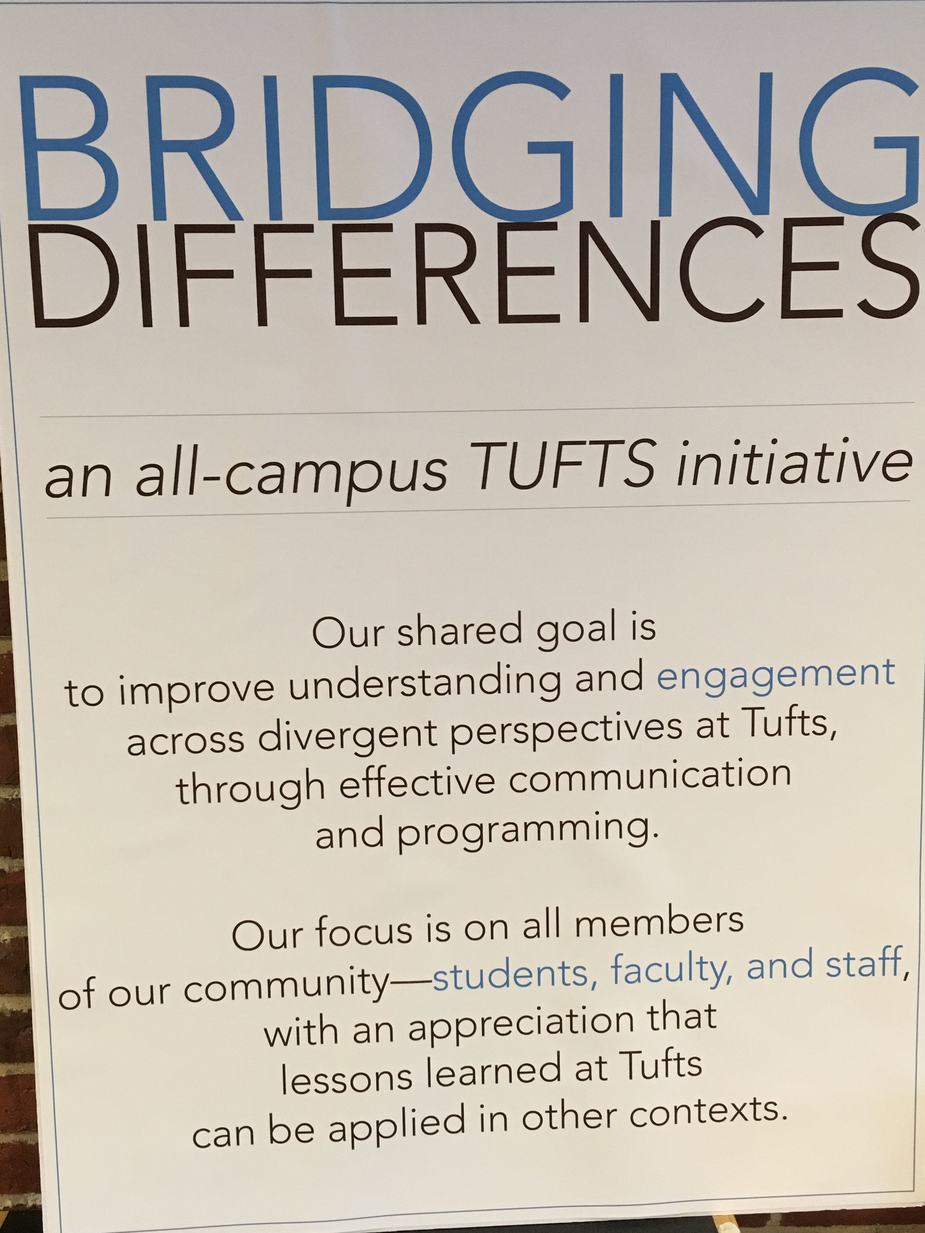 second poster for bridging differences