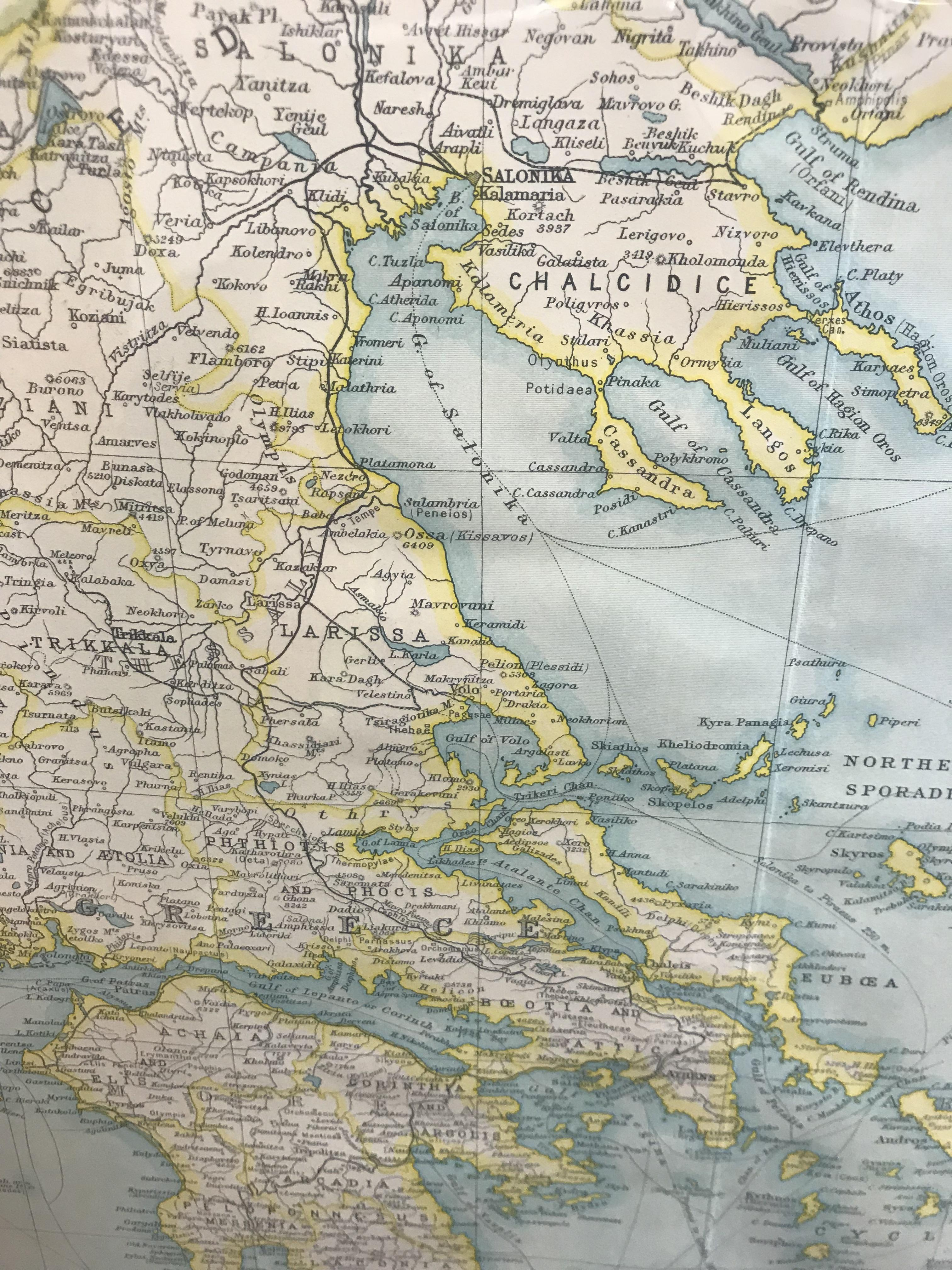 1924 Map of Greece